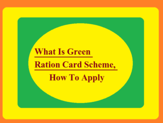 What Is Green Ration Card Scheme, How To Apply